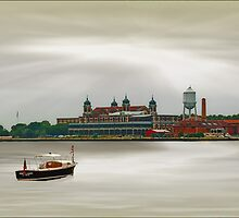 DOCKED AT ELLIS ISLAND by TOM YORK