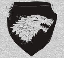Grungy Wolf Shield by Anastasiia Kucherenko