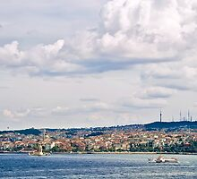 A View From Topkapi Palace Towards The Maiden Tower by Kuzeytac