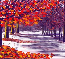 Glory of Autumn, Millington Woods by Glenn Marshall