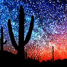Cacti and the Starry Night Sky by Natalie Kinnear