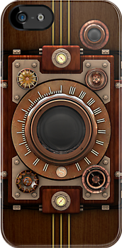 Steampunk Camera No.1A iPod case by Steve Crompton