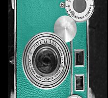 Teal retro i=phone case by woodnimages