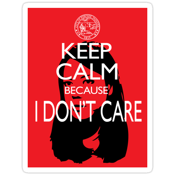 April Ludgate Doesn't Care Stickers by slmike82
