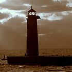 Pierhead Lighthouse Kenosha Wisconsin by kkphoto1