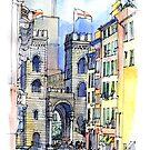 Genova Porta Soprana by Luca Massone  disegni