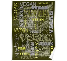 Vegan in Green Poster Poster