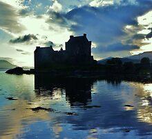 Eilean Donan Castle - Saltire  by caledoniadreamn