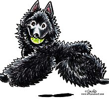 Schipperke Let's Play by offleashart