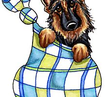 German Shepherd Sack Puppy by offleashart