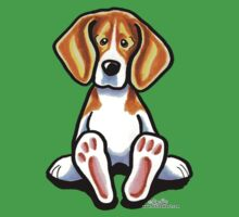 Big Feet Beagle by offleashart