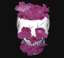 Skull Full of Pink Flowers by BamaBruce69