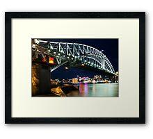 The Sydney Harbour Bridge on a starry starry night ! Framed Print