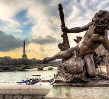 Parisian Cherub On The  Pont Alexandre III by Mark Tisdale
