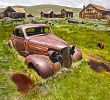 Broke Down Car in Bodie Ghost Town by GregorDyer