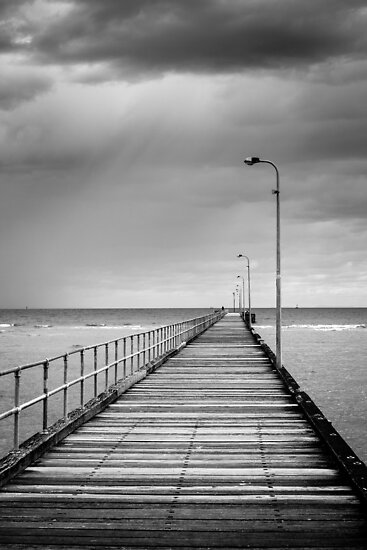 Storm Off The Pier by Joel McDonald
