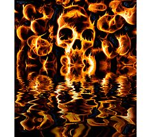 Skulls of Fire Photographic Print