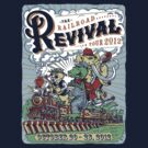 RailRoad Revival Tour Dark Shirts by MudgeStudios