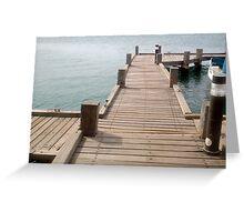 """Aruba Boat Dock""  by Carter L. Shepard Greeting Card"