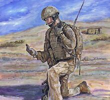 British Soldier Helmand Afghanistan by Phil Willetts
