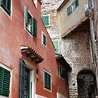 Quirky Buildings At Rovinj Croatia by lynn carter
