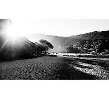 Sunset in the salty mist Photographic Print