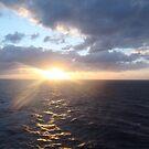 Sunset At Sea by Sarah Harris