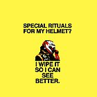 On Helmet Rituals by brilliantbutton