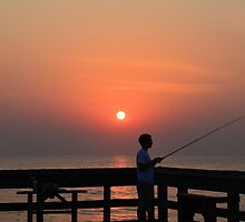 Fishing At Dawn by ©Dawne M. Dunton