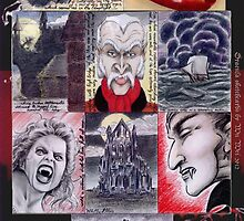 Dracula sketchcards by wu-wei