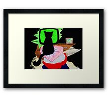 """Nina the little black panther - """"what's on tonight?"""" Framed Print"""