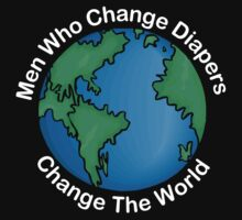 "New Dad Father ""Men Who Change Diapers Change The World"" Father's Day Dark by FamilyT-Shirts"
