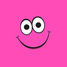 Happy hot pink smiley face iPhone case by Mhea