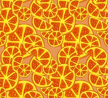 Orange Slices Pattern by SaradaBoru