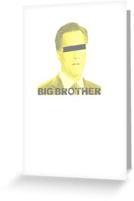 Mitt Romney big brother 2012 vintage by Tia Knight