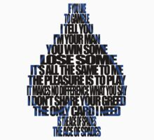 Ace Of Spades - Black and Blue by georgestow