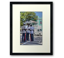 Police Officers on Bay Street in Downtown Nassau, The Bahamas Framed Print