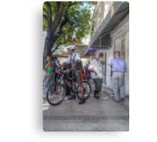 Daily Life on Bay Street in Downtown Nassau, The Bahamas Metal Print