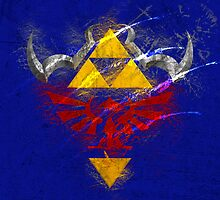 Legend of Zelda OoT - Hylian Shield Scratched by spyderjava