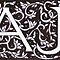 William Morris Inspired AJ Monogram by Donnahuntriss