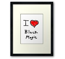 i love halloween black magic  Framed Print