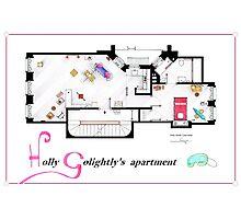 Breakfast at Tiffany's Apartment Floorplan v2 Photographic Print