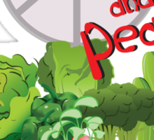 Vegetable Rights and Peace Sticker