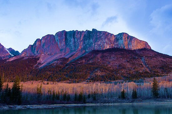 Yamnuska Mountain at 6 am by Yukondick