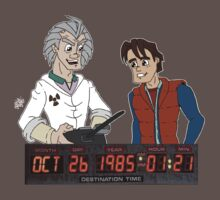 Doc Brown & Marty McFly by DrewBird