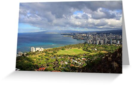 Diamond Head Lookout, Honolulu, Oahu, Hawai'i, USA by Clark Thompson