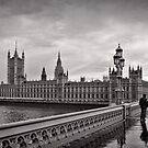 Walking to Westminster - London - Britain by Norman Repacholi
