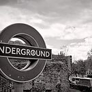 Underground below - London - Britain by Norman Repacholi