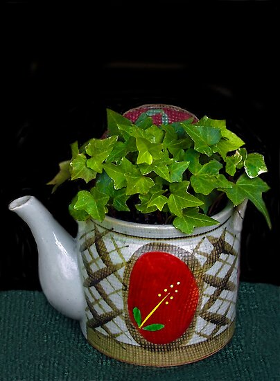 Potted Teapot  by heatherfriedman