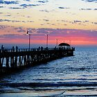Henley Beach Jetty & The Pelican by Cherie Vivar